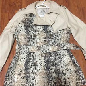 Jackets & Blazers - Coach python snakeskin pattern trench coat